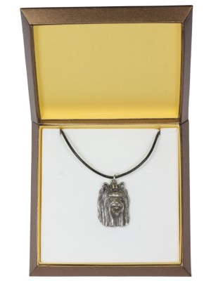 Yorkshire Terrier - necklace (silver plate) - 2995 - 31138