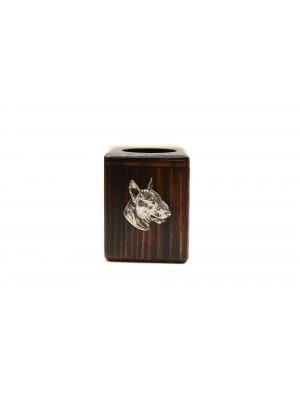 Bull Terrier - candlestick (wood) - 3978