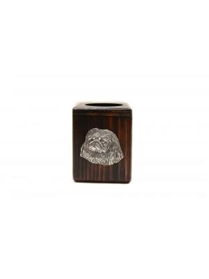 Pekingese - candlestick (wood) - 3979