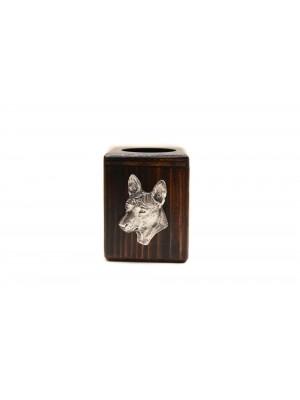 Basenji - candlestick (wood) - 3980