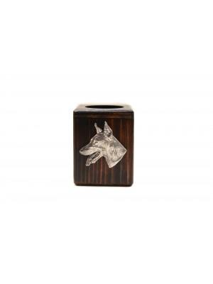 Doberman pincher - candlestick (wood) - 3984