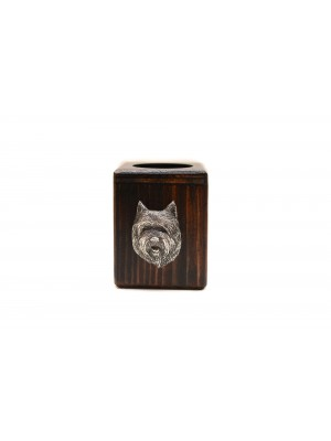 Cairn Terrier - candlestick (wood) - 3988