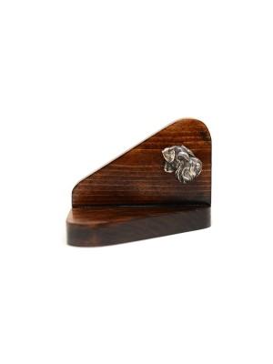 Schnauzer - candlestick (wood) - 3673
