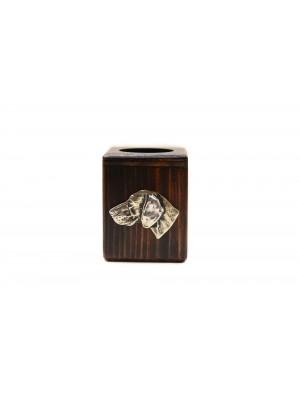 Weimaraner - candlestick (wood) - 3932