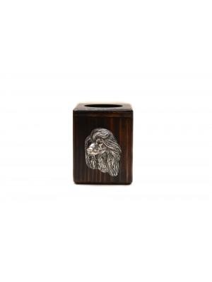 Afghan Hound - candlestick (wood) - 3938
