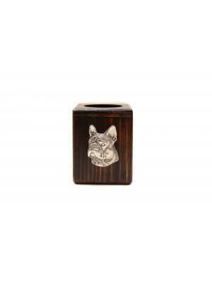 French Bulldog - candlestick (wood) - 3953