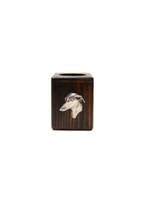 Italian Greyhound - candlestick (wood) - 3977