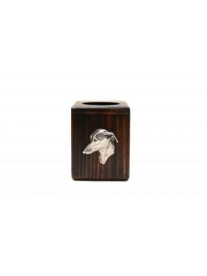 Italian Greyhound - candlestick (wood) - 3977