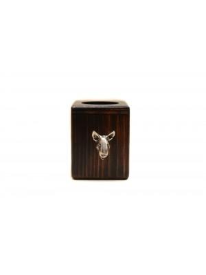 Bull Terrier - candlestick (wood) - 3892