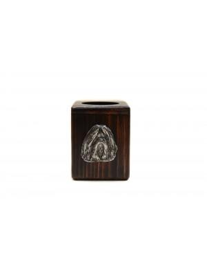 Shih Tzu - candlestick (wood) - 3893