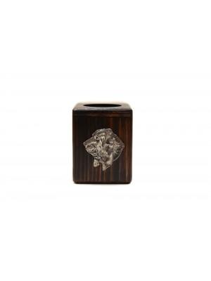 Basset Hound - candlestick (wood) - 3896