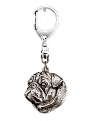 Pug - keyring (silver plate) - 1