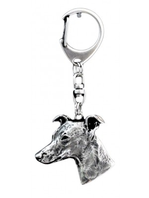 Whippet - keyring (silver plate) - 43