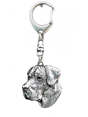 Great Dane - keyring (silver plate) - 47