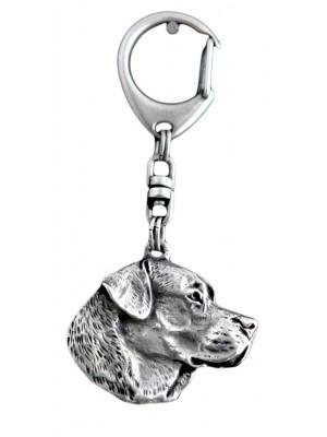 Labrador Retriever - keyring (silver plate) - 66