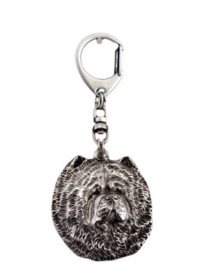 Chow Chow - keyring (silver plate) - 24