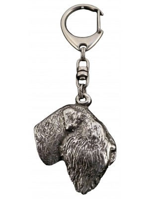 Black Russian Terrier - keyring (silver plate) - 90