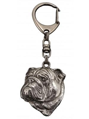 English Bulldog - keyring (silver plate) - 36