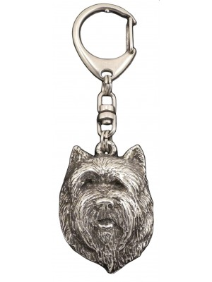 Cairn Terrier - keyring (silver plate) - 118