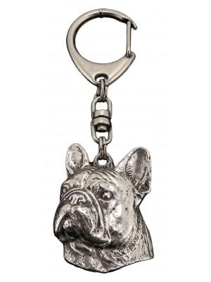 French Bulldog - keyring (silver plate) - 81