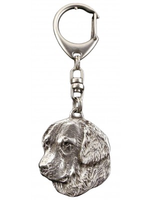 Golden Retriever - keyring (silver plate) - 22