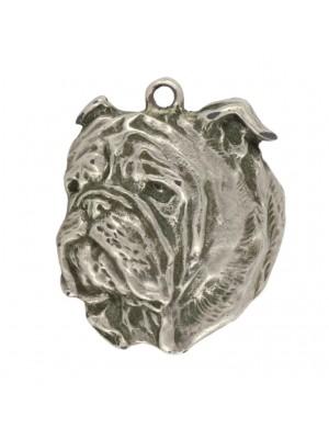 English Bulldog - keyring (silver plate) - 11