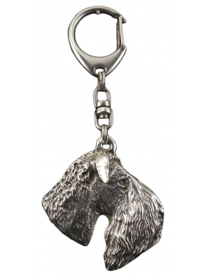 Kerry Blue Terrier - keyring (silver plate) - 77