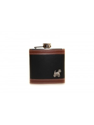 West Highland White Terrier - flask - 3506