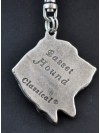 Basset Hound - keyring (silver plate) - 23 - 164