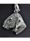 Bedlington Terrier - keyring (silver plate) - 76 - 435