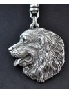 Bernese Mountain Dog - keyring (silver plate) - 31 - 205