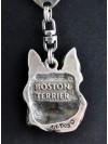 Boston Terrier - keyring (silver plate) - 54 - 328