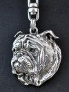 English Bulldog - keyring (silver plate) - 11 - 107