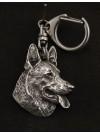 German Shepherd - keyring (silver plate) - 29 - 9239
