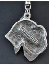 Schnauzer - keyring (silver plate) - 26 - 175
