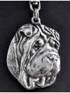 Shar Pei - keyring (silver plate) - 37 - 236