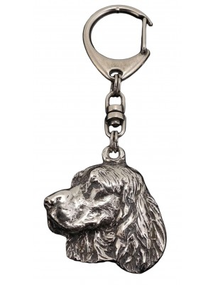 English Springer Spaniel - keyring (silver plate) - 82
