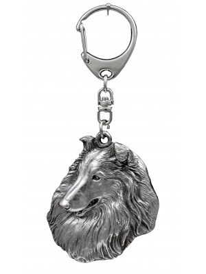 Rough Collie - keyring (silver plate) - 1097