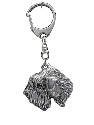 Irish Soft Coated Wheaten Terrier - keyring (silver plate) - 1101