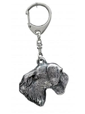 Cesky Terrier - keyring (silver plate) - 1106