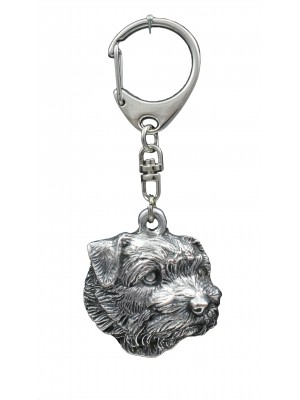 Norfolk Terrier - keyring (silver plate) - 1108