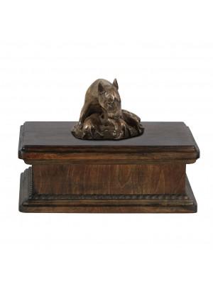 Bull Terrier mama- exlusive urn