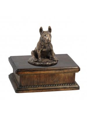 Bull Terrier sitting - exlusive urn