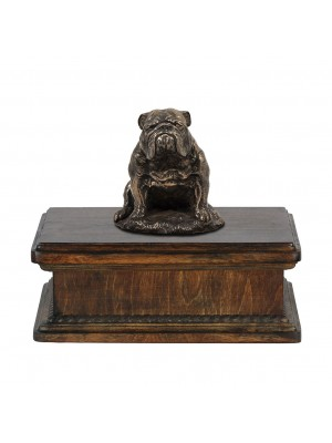 Bulldog sitting - exlusive urn