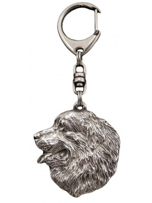 Bernese Mountain Dog - keyring (silver plate) - 31
