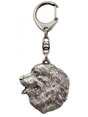 Bernese Mountain Dog - keyring (silver plate) - 31