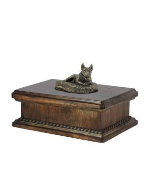 Bull Terrier lying happy - exlusive urn