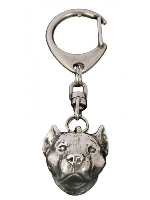 American Staffordshire Terrier - keyring (silver plate) - 27