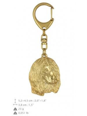 Afghan Hound - keyring (gold plating) - 882 - 25277