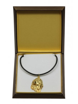 Afghan Hound - necklace (gold plating) - 3043 - 31679